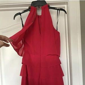 Laundry Shelli Segal pink ruffle dress, size 4